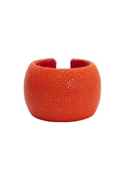 Kathleen Dughi - Raya Tangerine Orange Stingray Cuff Bracelet