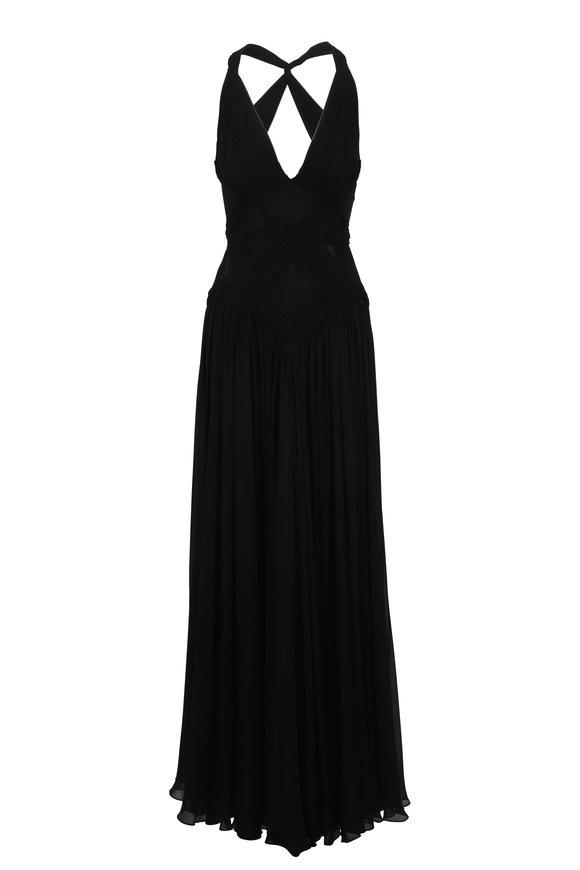 Jenny Packham Black Halter Gown