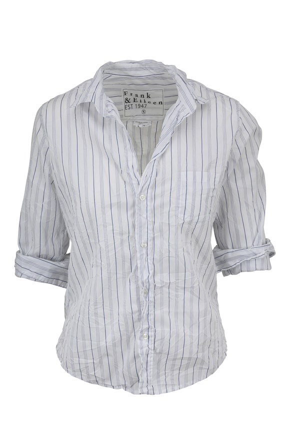 Frank & Eileen Barry White Striped Button Down