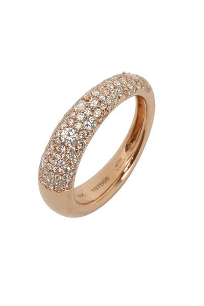 Kwiat - 18K Pink Gold Diamond Ring