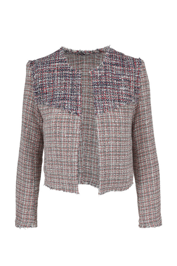 IRO Walefa Multicolor Tweed Frayed Jacket