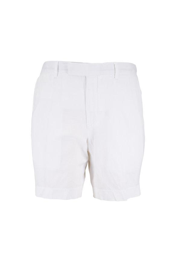 Polo Ralph Lauren White Linen Blend Shorts