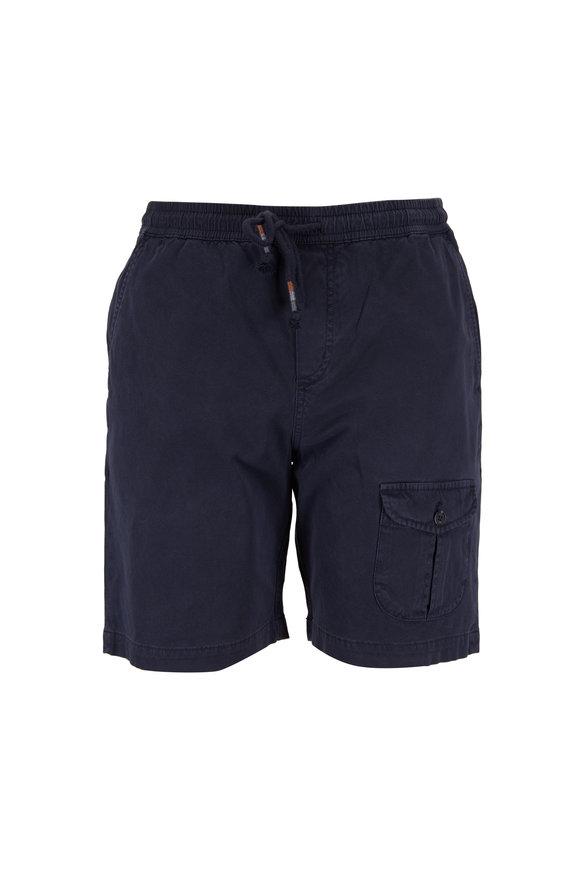 Michael Bastian Navy Blue Pull-On Shorts