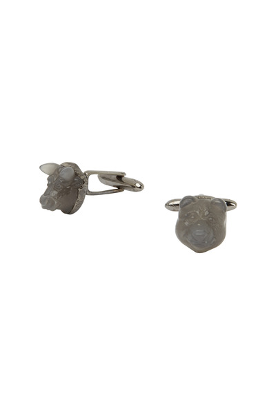 Kimberly McDonald - Gray Moonstone Bear Cuff Links