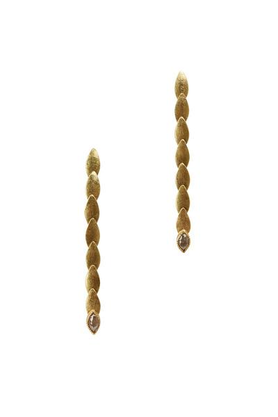 Todd Reed - Yellow Gold Fancy Diamond Pebble Dangle Earrings