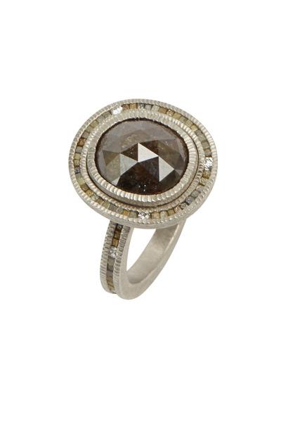 Todd Reed - Palladium Fancy Black Diamond Ring