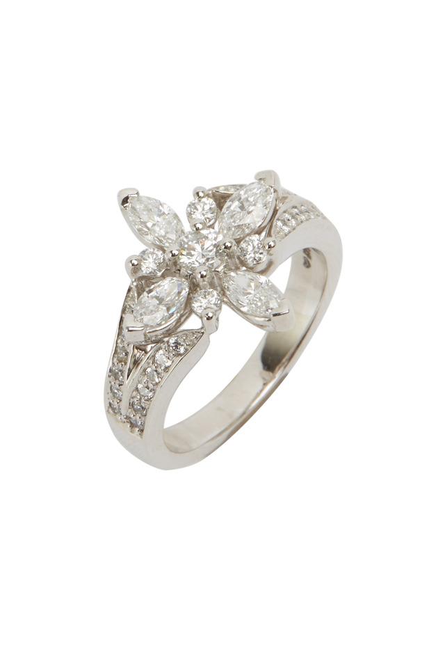 Star Platinum White Diamond Ring