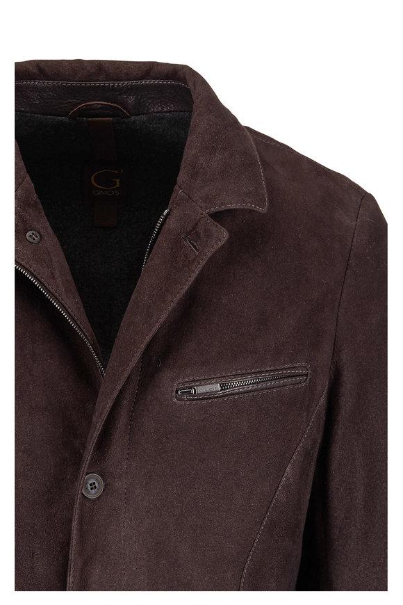 Gimos Brown Vintage Suede Blazer Jacket