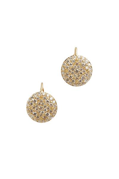 Jamie Wolf - Yellow Gold Small Pavé Aladdin Stud Earrings