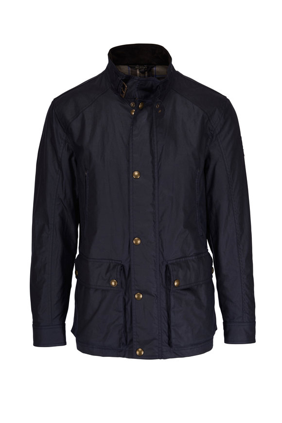 Belstaff New Tourmaster Dark Navy Waxed Cotton Jacket