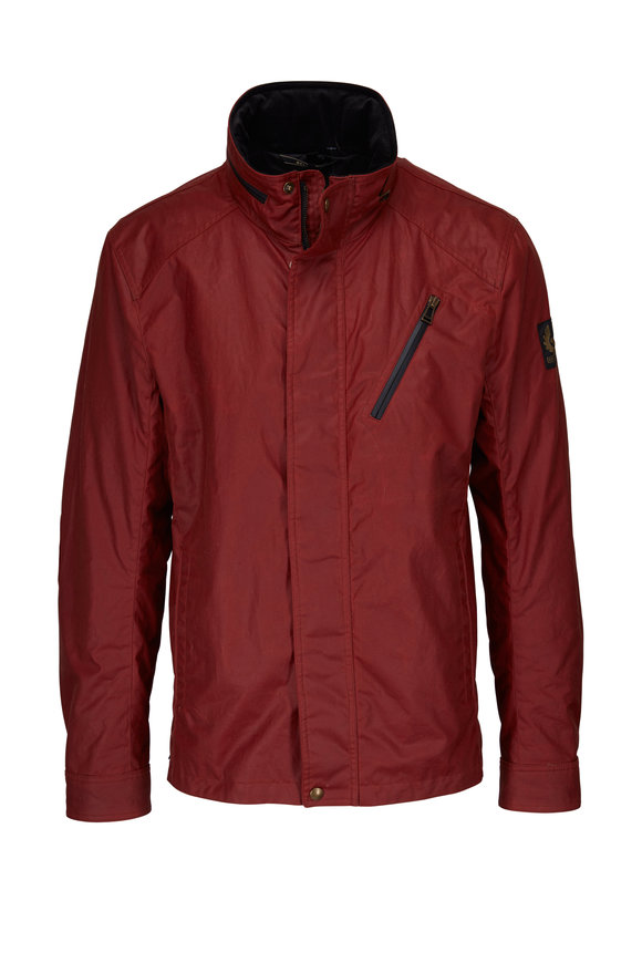 Belstaff Citymaster Carnelian Red Waxed Cotton Jacket