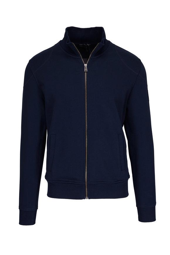Belstaff Staplefield Navy Full Zip Sweatshirt