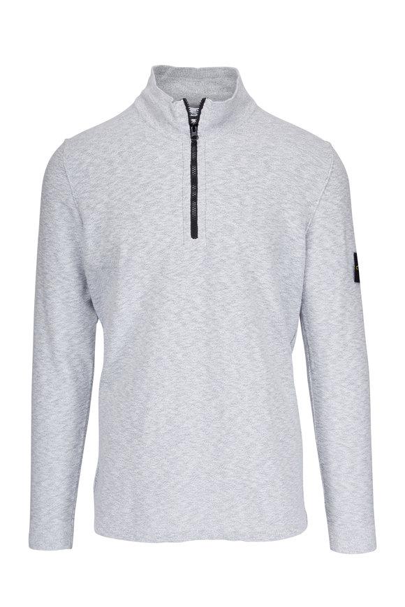 Stone Island Grey Quarter Zip Pearl Pullover