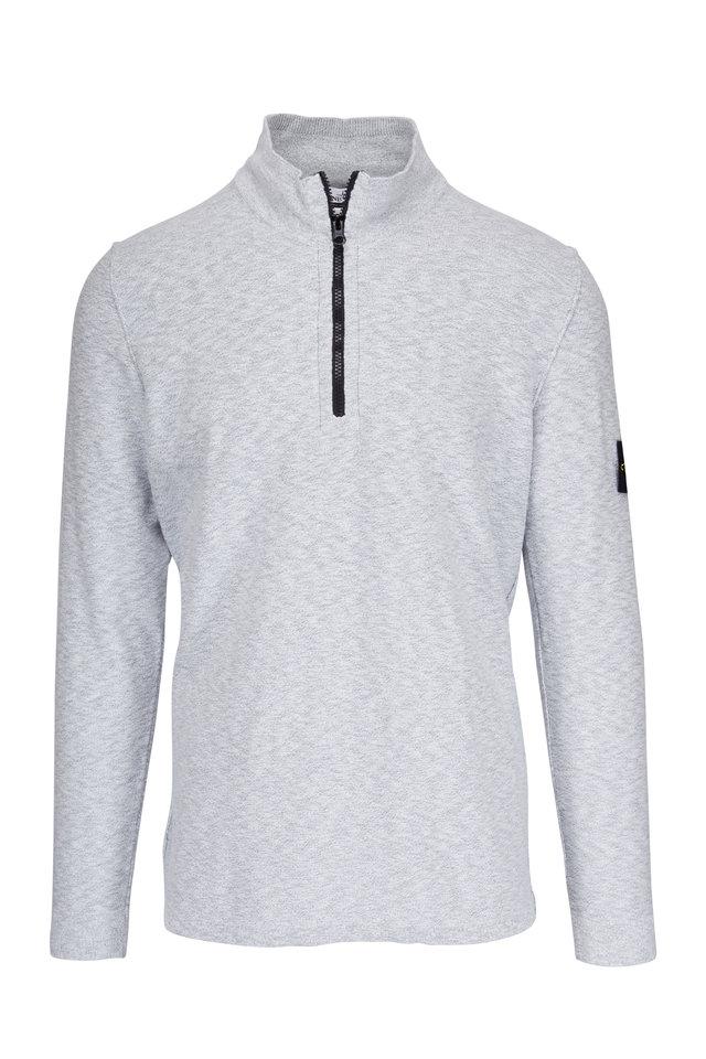 Grey Quarter Zip Pearl Pullover