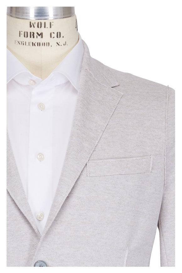 Harris Wharf Ecru Linen Two-Button Blazer
