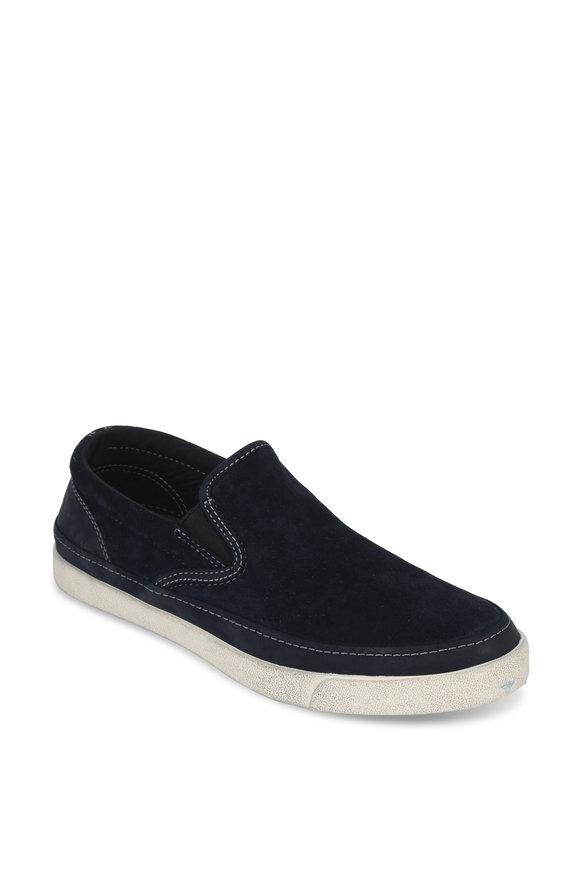John Varvatos Jet Midnight Blue Suede Slip-On Sneaker