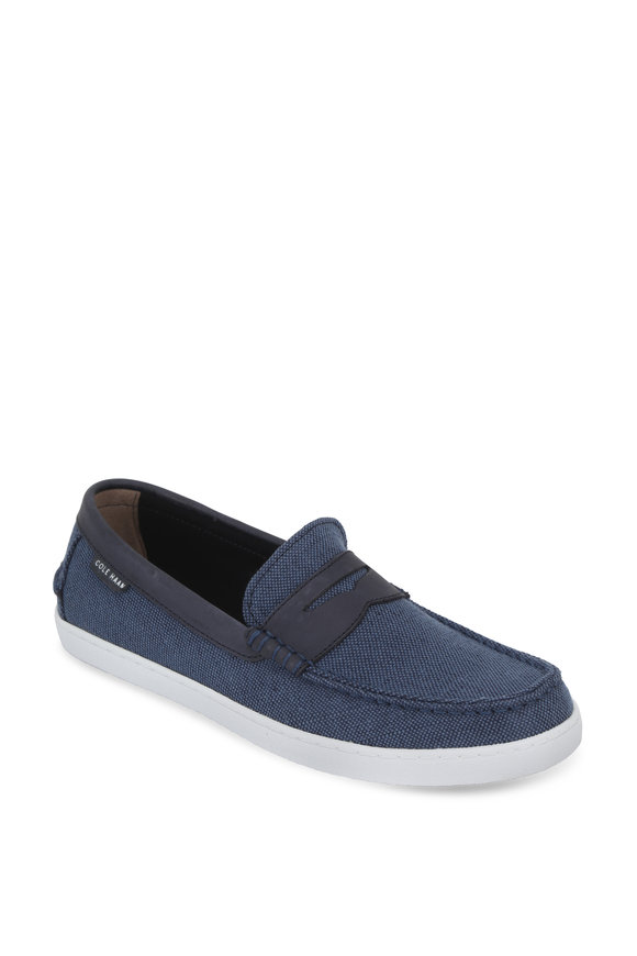 Cole Haan Pinch Weekender Navy Blue Canvas Loafer