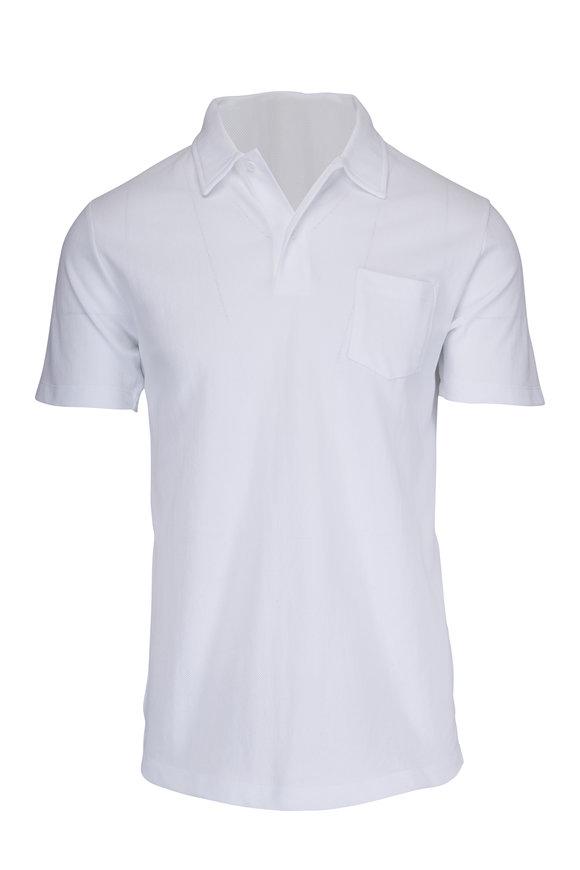Sunspel Riviera White Polo