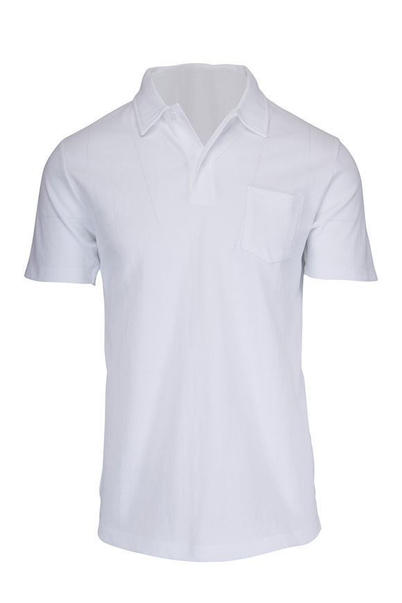 Sunspel Riviera White Polo
