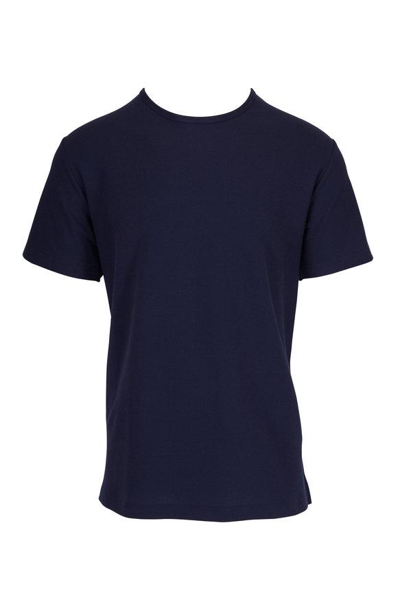Handvaerk Navy Pique Short Sleeve Crew T-Shirt
