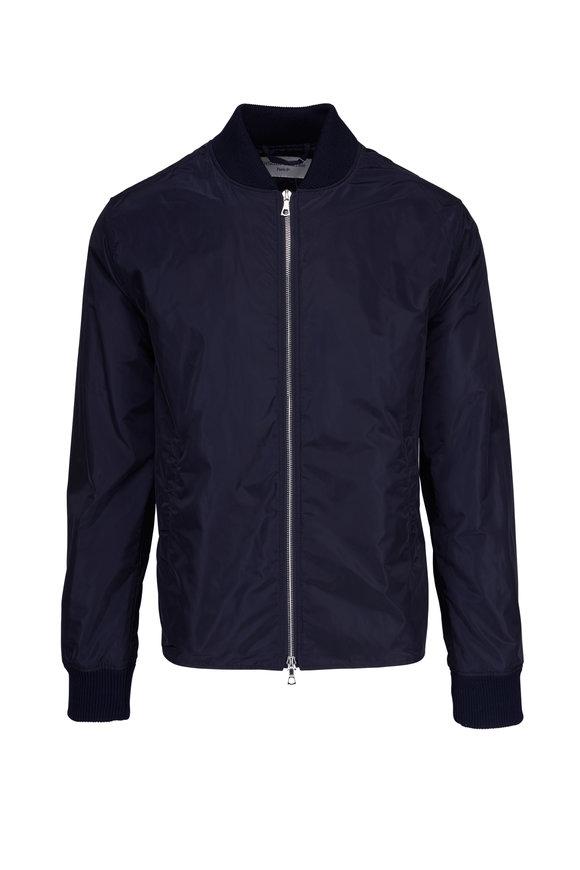 Officine Generale Ben Navy Blue Bomber Jacket