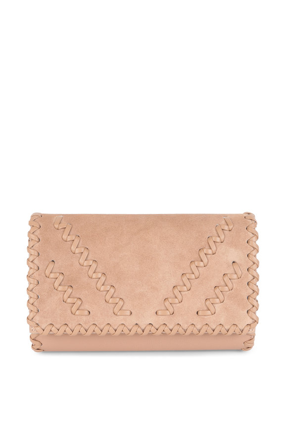 Christian Louboutin Paloma Nude Suede Convertible Clutch