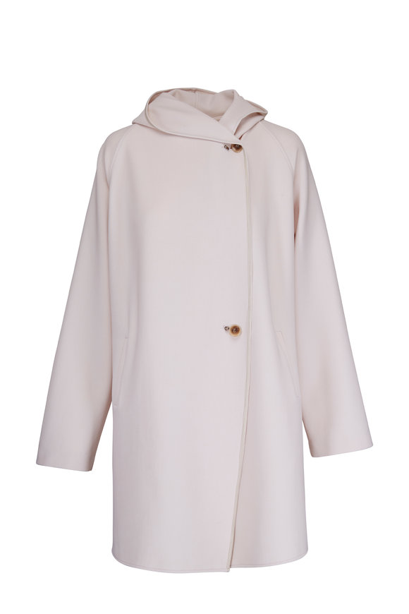 Peter Cohen Glow White Double-Faced Overcoat