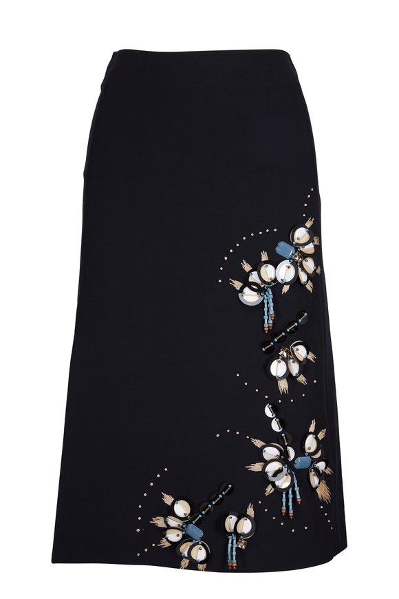 Dorothee Schumacher Look Sharp Black Beaded Skirt