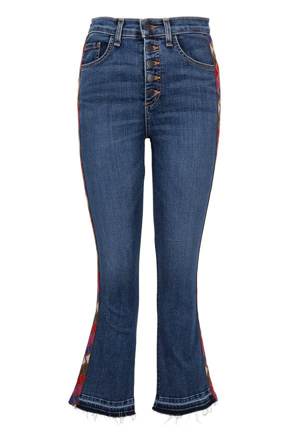 Veronica Beard Carolyn Tuxedo Striped Baby Boot Jean