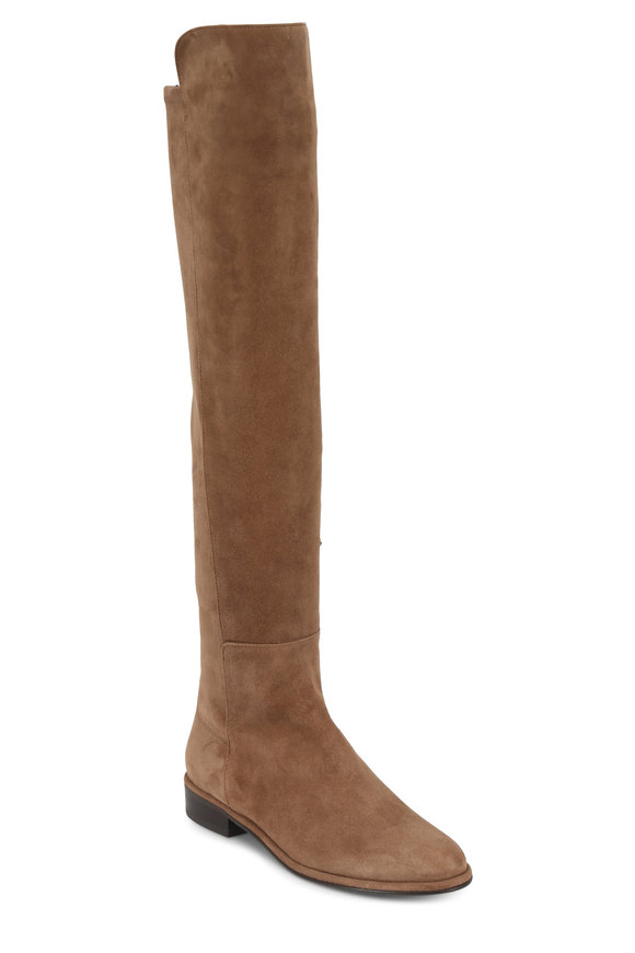 Stuart Weitzman Allgood Nutmeg Suede Over-The-Knee Boot