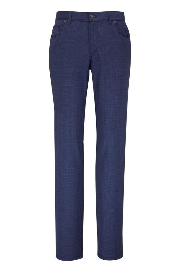 Hiltl Kent Blue Wool Five Pocket Pant