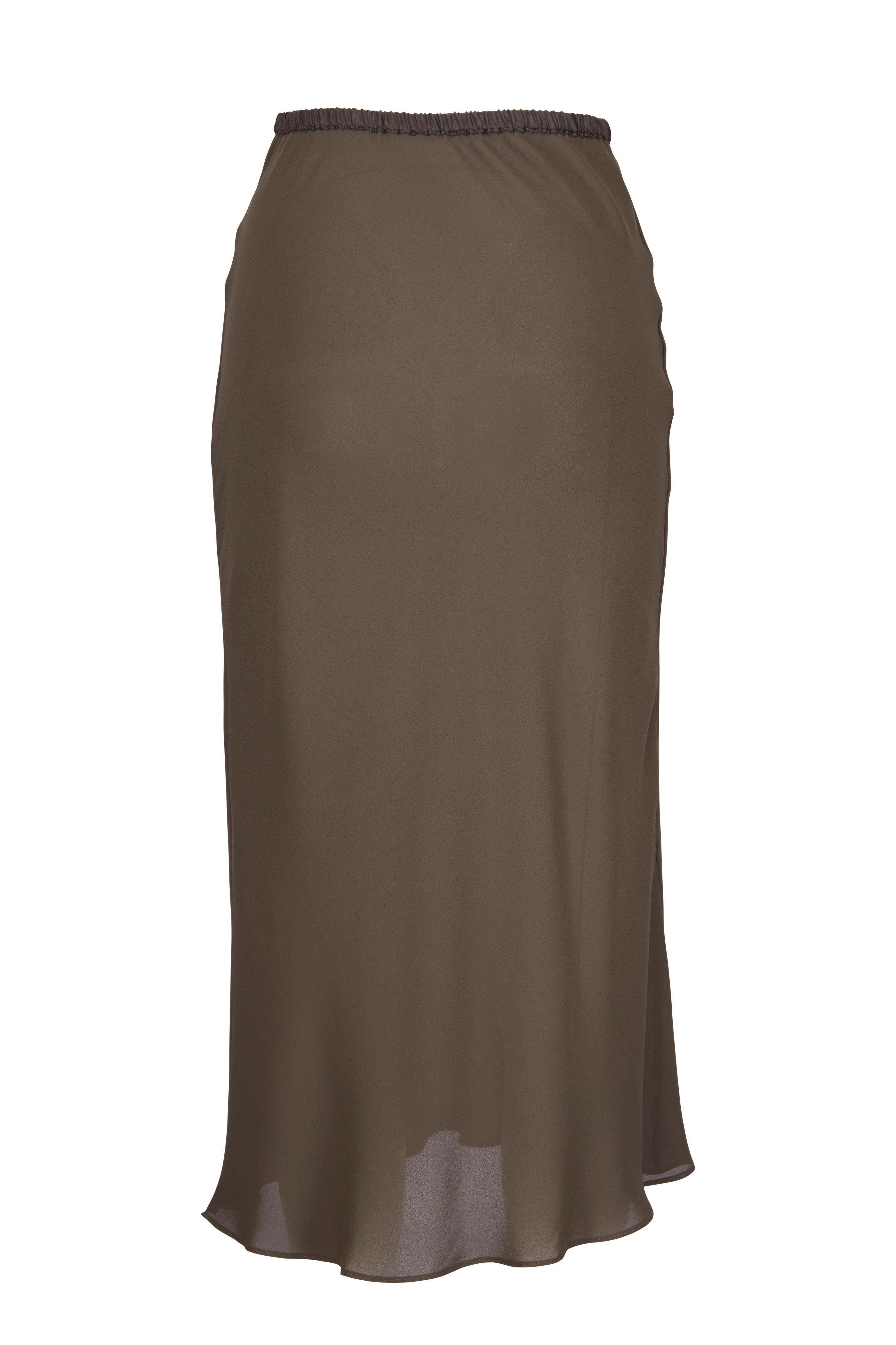e4f01eae38e1 Peter Cohen - Dark Olive Green Bias Cut Skirt | Mitchell Stores