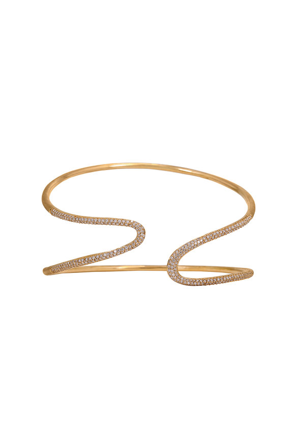 Sandy Leong 18K Yellow Gold Harmonic Open Cuff