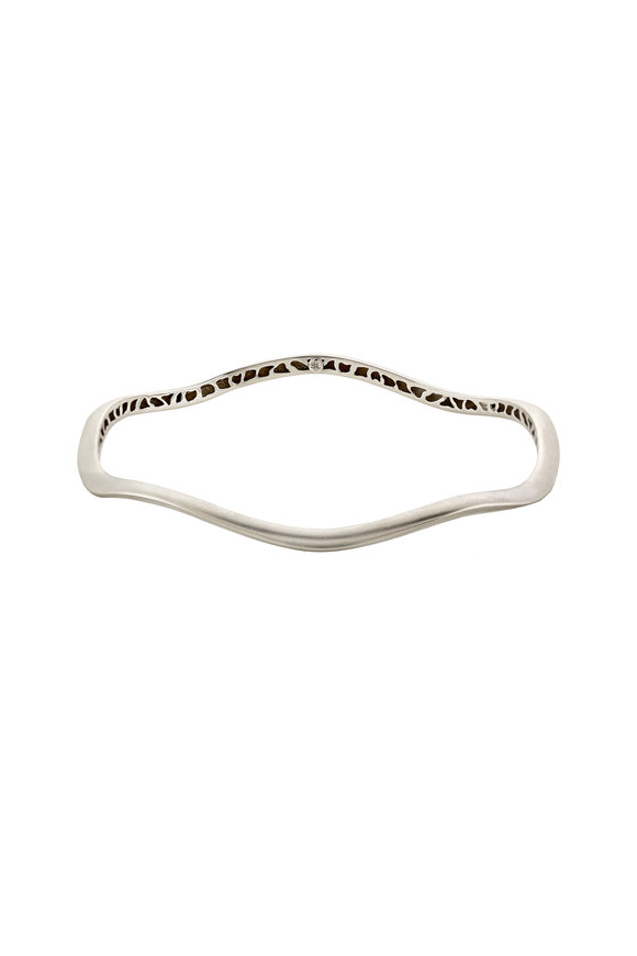 Sandy Leong 18K White Gold Thin Canyon Bangle