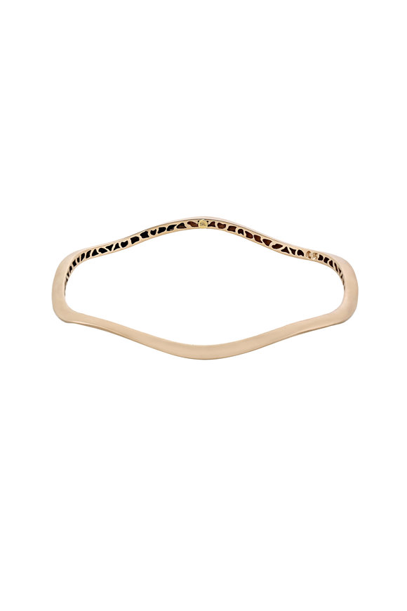 Sandy Leong 18K Champagne Gold Thin Canyon Bangle