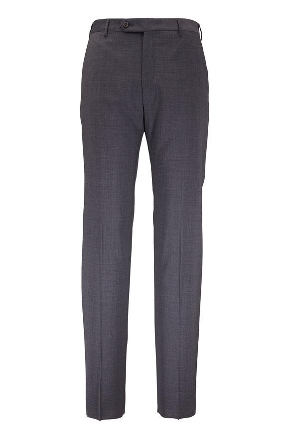 Zanella Parker Charcoal Gray Wool Pant