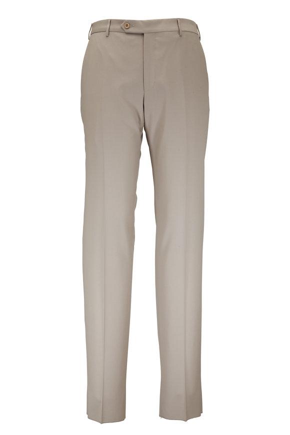 Zanella Parker Khaki Wool Pant