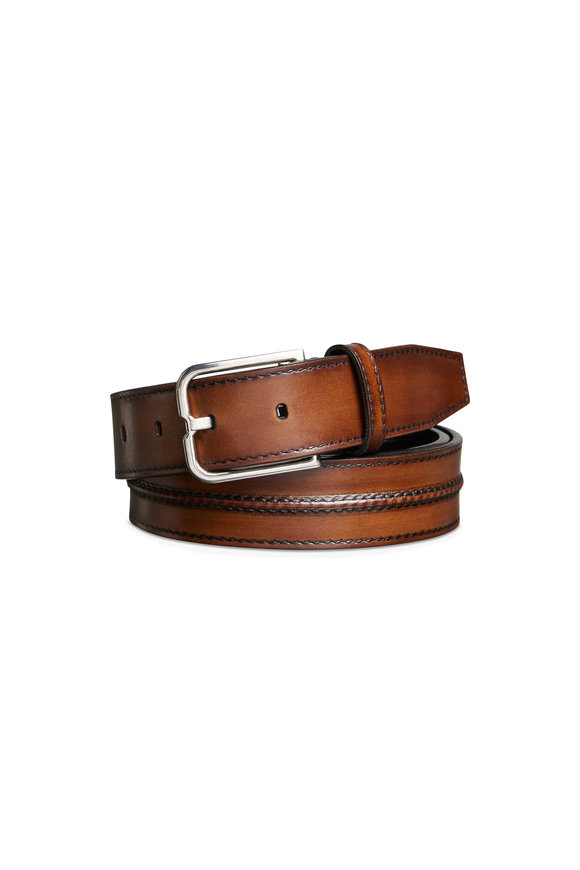 Berluti Dark Brown Essence Leather Belt
