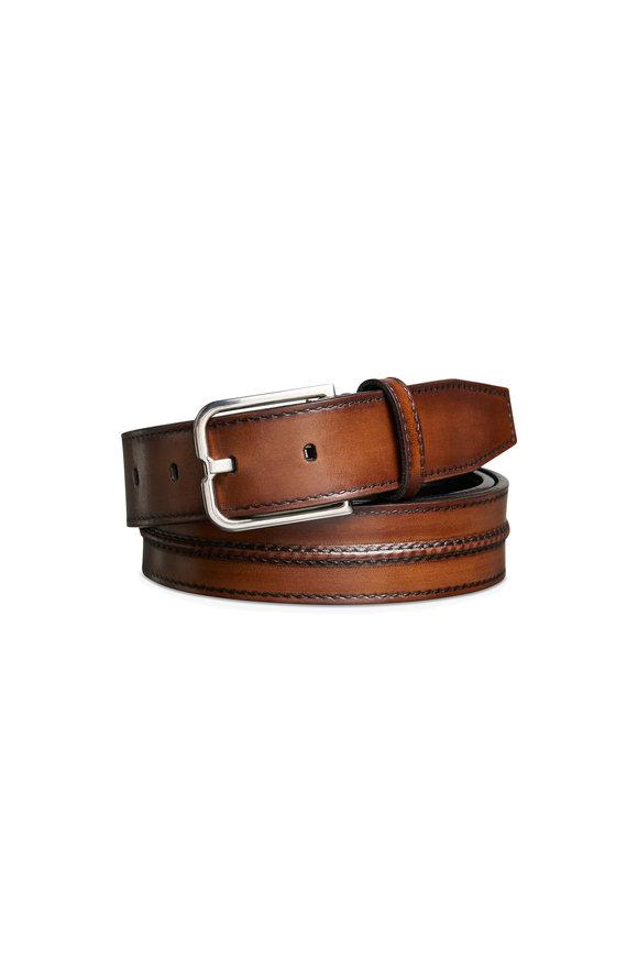 Berluti Dark Brown Essence Leather Belt