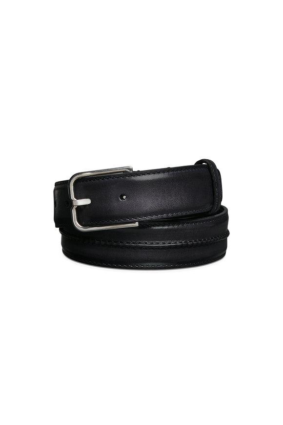 Berluti Black Essence Leather Belt