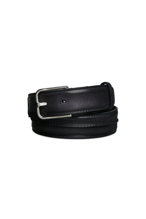 Berluti Black Essence Leather Belt