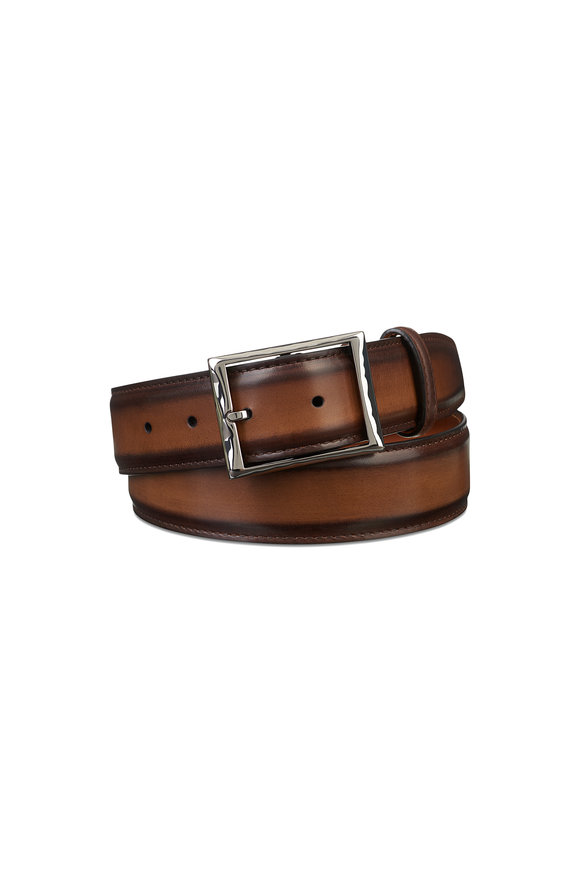 Berluti Tobacco Classic Leather Belt