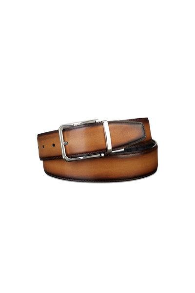 Berluti - Nero & Tobacco Leather Belt