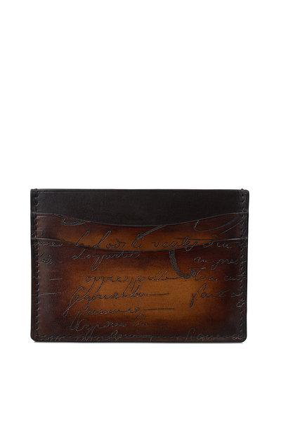 Berluti - Bambou Scritto Tobacco Bis Leather Card Case
