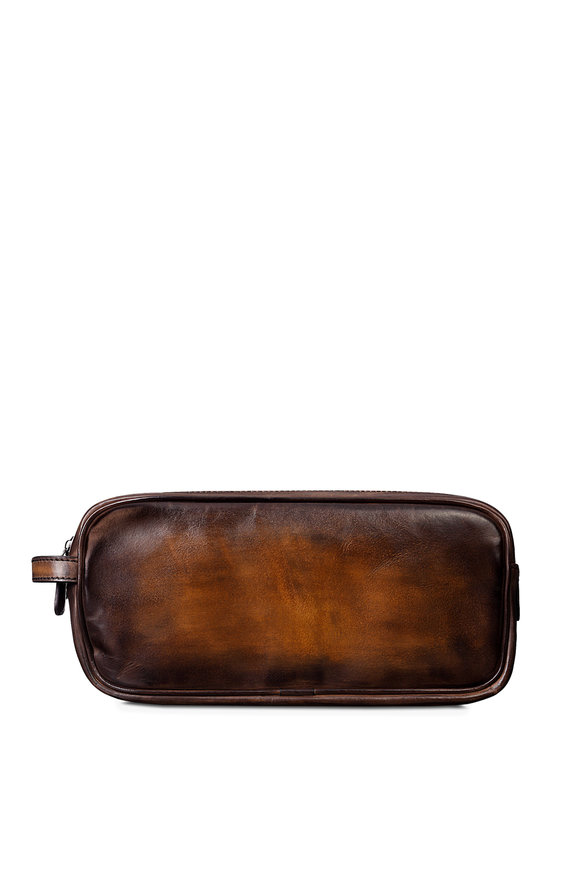 Berluti Tobacco Bis Leather Dopp Kit