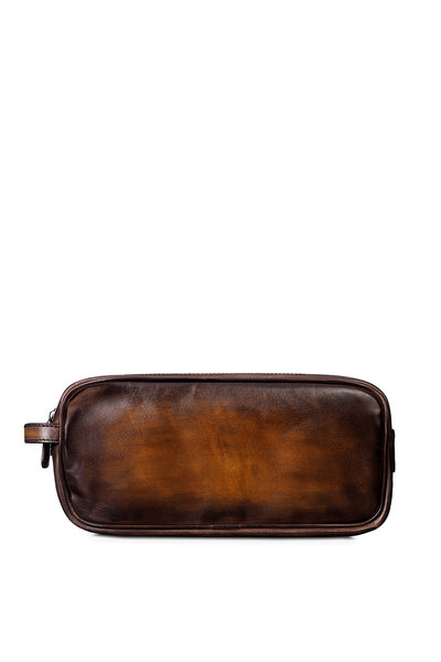 Berluti - Tobacco Bis Leather Dopp Kit