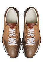 Berluti -  On Track Torino Taupe Calfskin Suede Sneaker