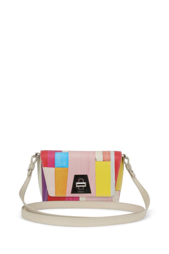 Akris Anouk Geo Print Leather Little Day Crossbody Bag