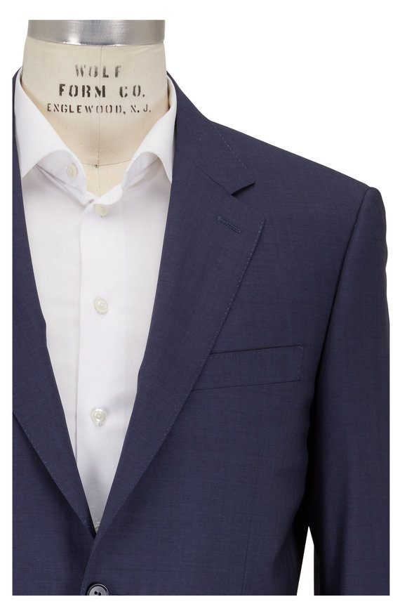 Canali Navy Blue Wool Travel Comfort Suit