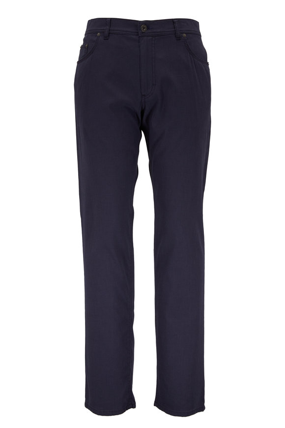 Brax Cooper Navy Stretch Cotton Five Pocket Pant